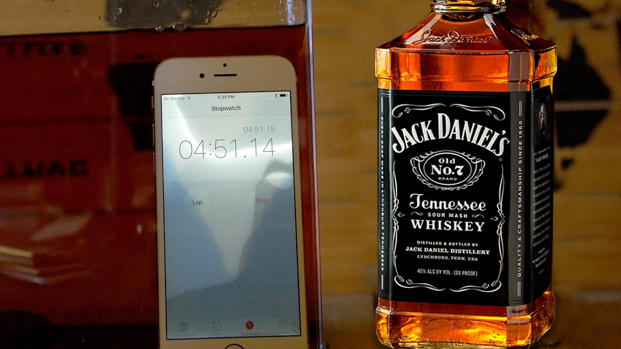 How Long Will An Iphone 6s Survive In Jack Daniels You