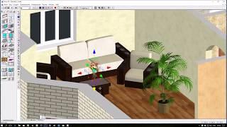 Урок дизайна в программе Дом-3D