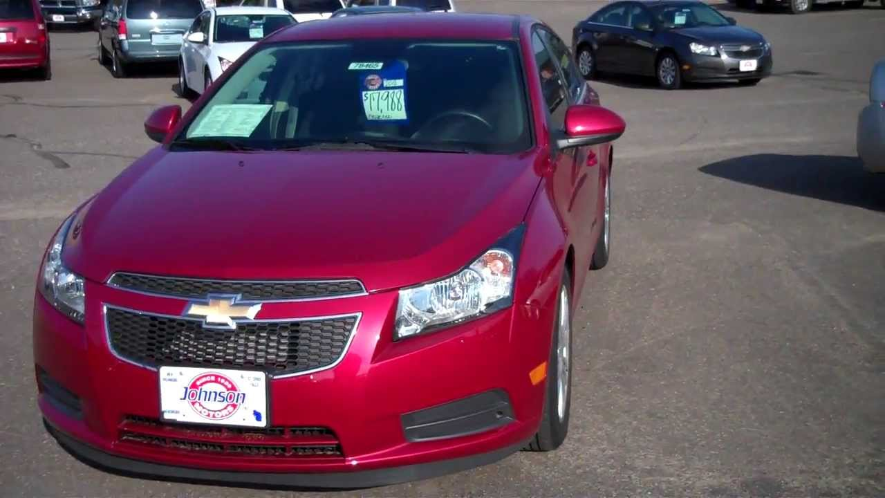 2012 chevrolet cruze eco with automatic transmission at johnson motors in st croix falls youtube. Black Bedroom Furniture Sets. Home Design Ideas