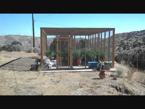 A Totally Amazing Self Watering Rain Gutter System In the California Desert! Wow!
