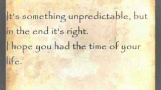 Good Riddance (Time of Your Life) - Green Day with Lyrics