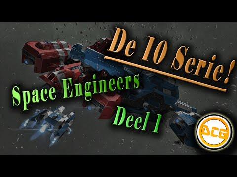 De 10 serie met Tim, Space Engineers deel 1, base building Dutch [NL]