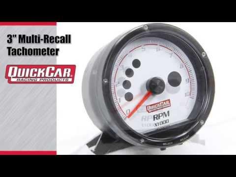quickcar 3 multi recall tachometer quickcar 3 multi recall tachometer