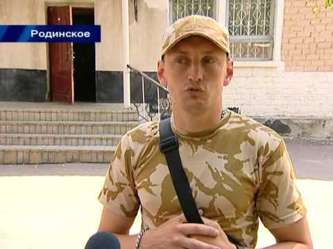 В Родинском установили мемориальную доску бойцу Константину Шрамко .