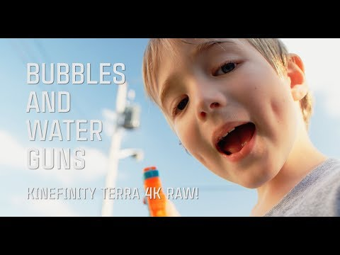 Bubbles and Water Guns // Kinefinity Terra 4K Cinema DNG Test