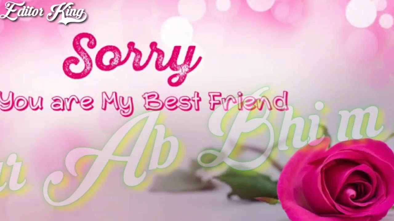 best status for saying sorry to girlfriendand or friend ||ek galti song ||