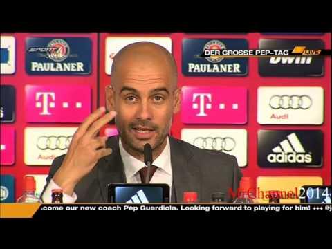 Pep Guardiola erste Pressekonferenz als Trainer von Bayern München - 24.06.2013