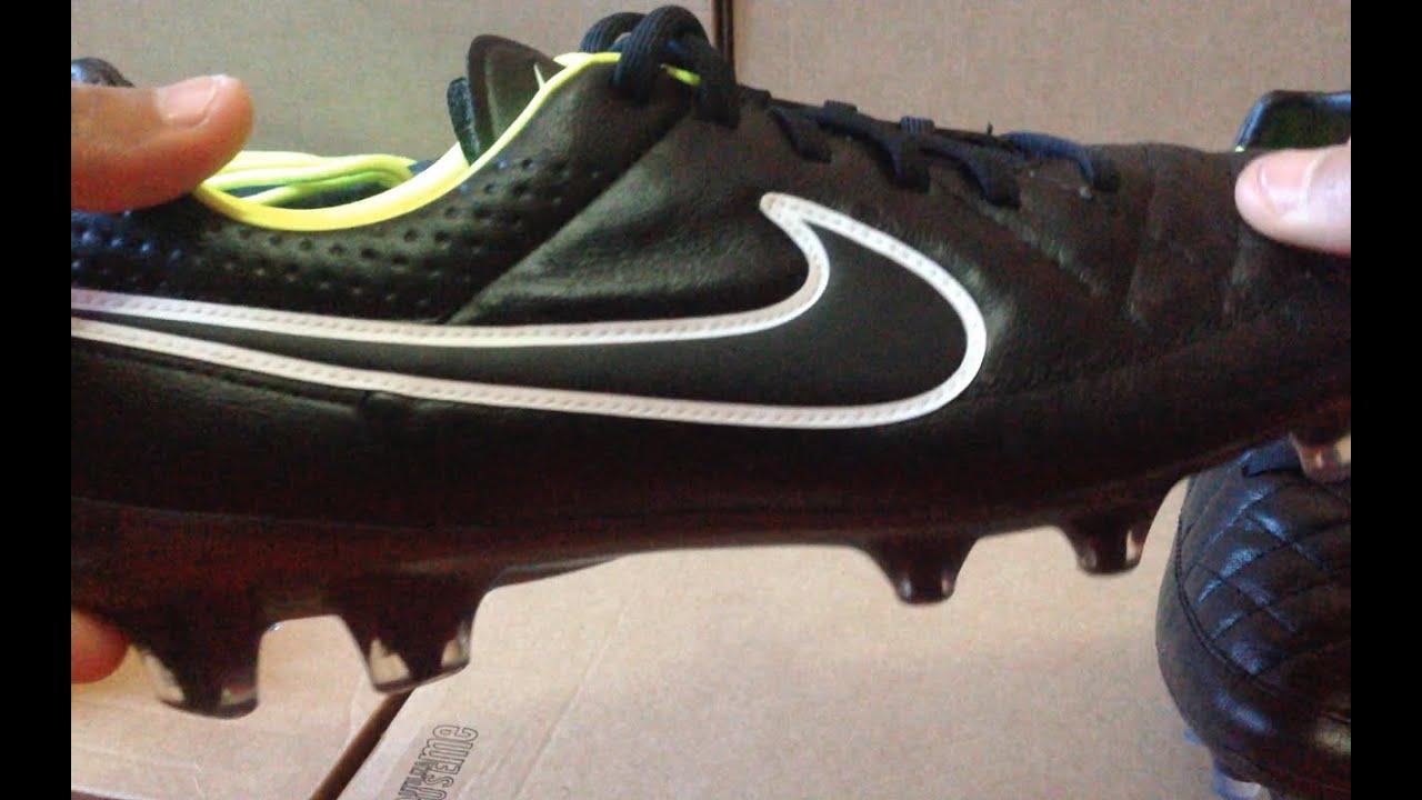 b79932b05 Nike Tiempo 5 Stealth Pack Edition FG Unboxing Black Volt. Soccer Kickz