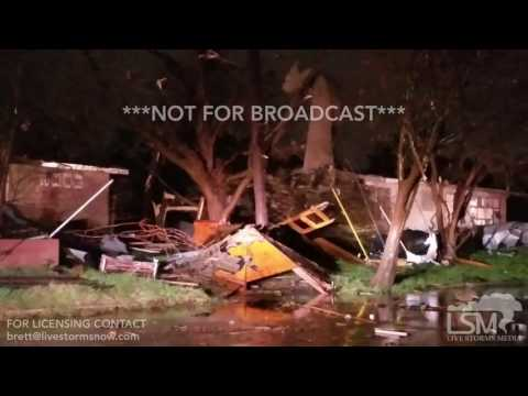 2-20-17 San Antonio, Texas Tornado Damage - Alamo Heights - Olmos Park