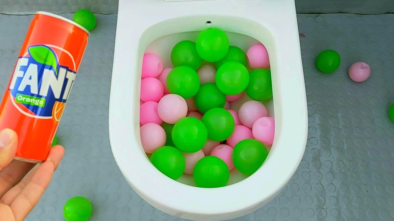 will it flush plastic balls and coca cola