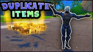 How To DUPLICATE Loot! (Fortnite Battle Royale Glitch)