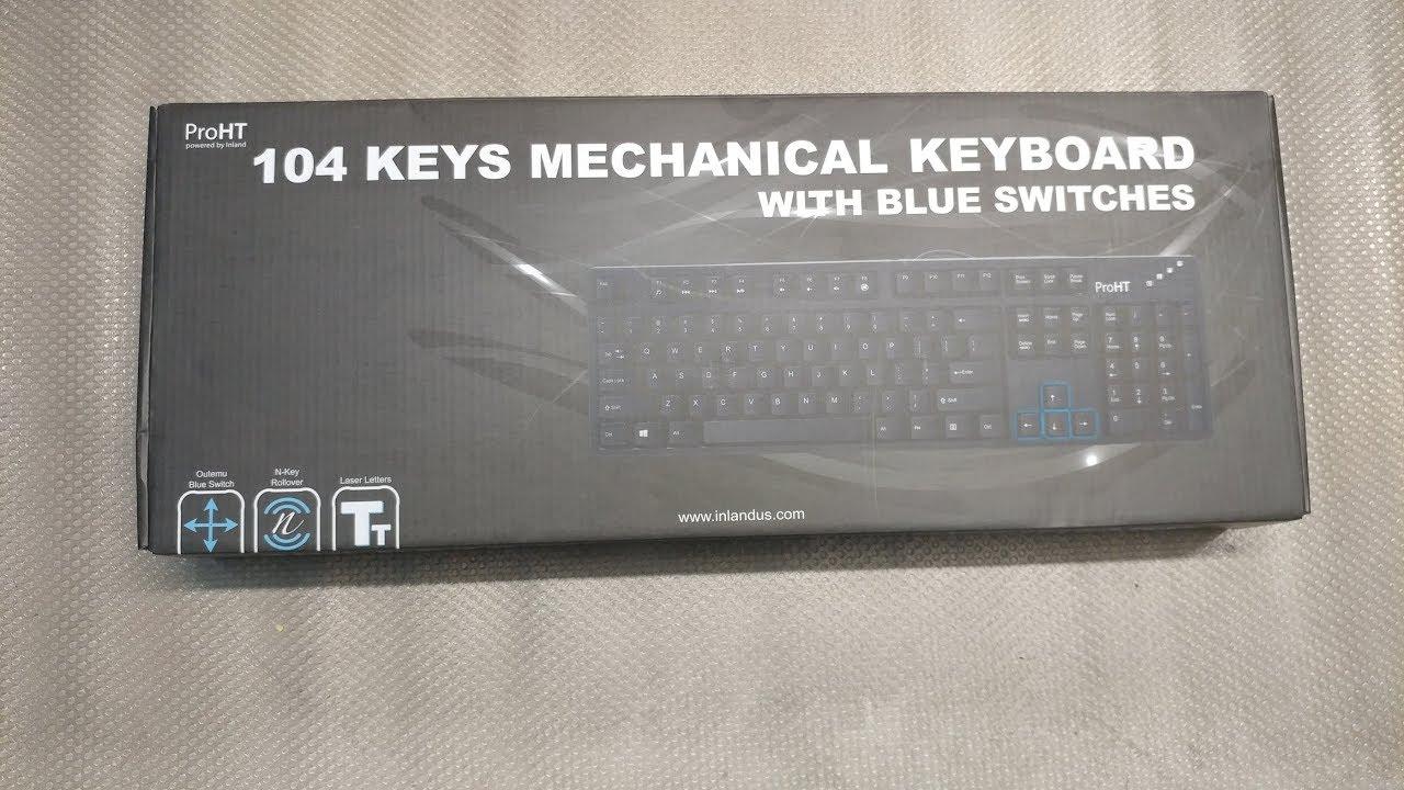 c18c80d82f8 Inland Pro HT Mechanical Keyboard Box Opening (Otemu Blue Switches ...