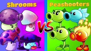 Plants vs Zombies 2 Gameplay Peashooters vs Mushrooms Max Levels! Team vs Team Plants in PVZ 2