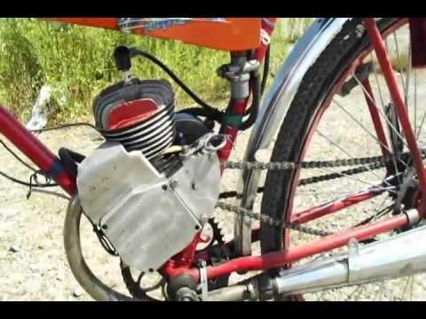 эксплуатация велосипеда Кама с двигателем Д-8 (зима) .AVI - YouTube