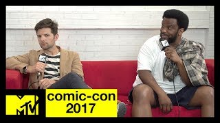 Adam Scott & Craig Robinson Discuss New Show 'Ghosted' | Comic-Con 2017 | MTV