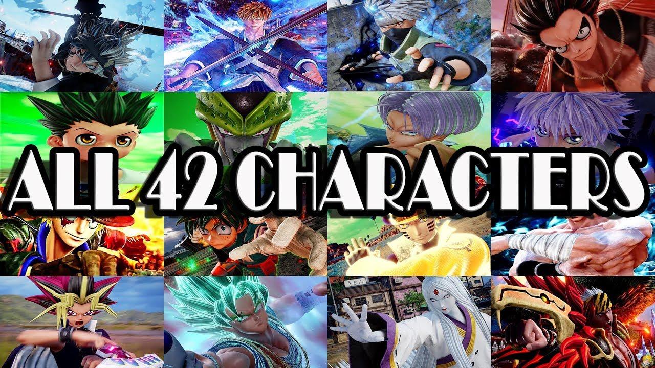 Jump Force Charaktere