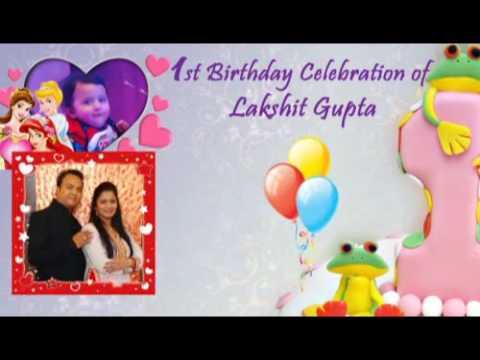 birthday invitation video