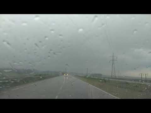 Driving on NH 16 in heavy rain