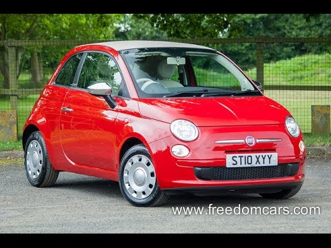 fiat 500c 1 2 pop convertible 2dr startstop youtube. Black Bedroom Furniture Sets. Home Design Ideas