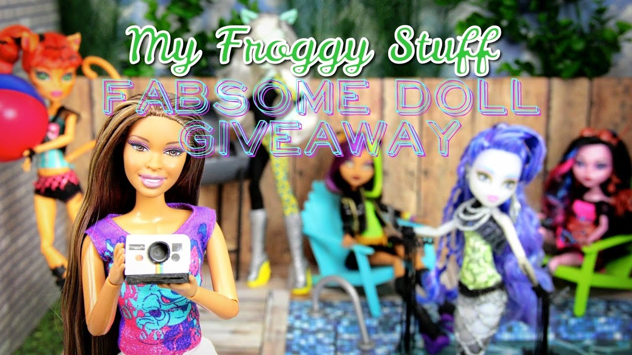 My Froggy Stuff Fabsome Summer Doll Giveaway Youtube