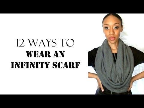12 Ways To Wear An Infinity Scarf Sugarstilettos Youtube