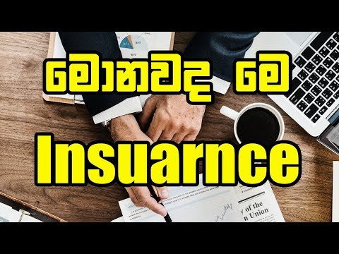 Insuarance In Sinhala - Basic Idea Insurance Explanation