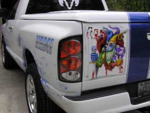 3D Head Custom Paint airbrushes another Custom Dodge Ram ...
