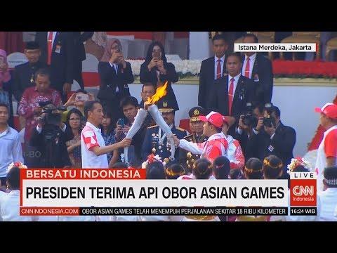 Istana Sambut Obor Asian Games, Diserahkan Ke Presiden Jokowi #BersatuIndonesia #17an