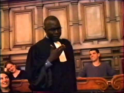 Denis AGBOTON - 1er Prix d'Eloquence 1999 (Robert Badinter)