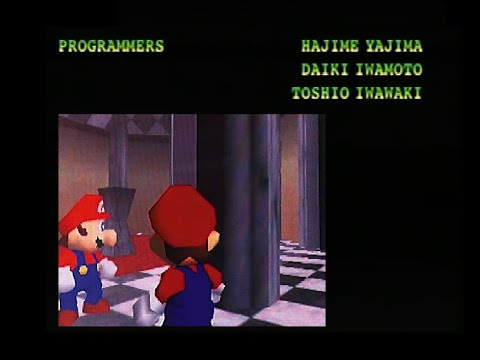 Super Mario 64 1995 07 29 Beta The End Staff Roll Youtube