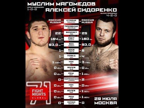 Fight Night Global 71. Магомедов Муслим vs. Сидоренко Алексей
