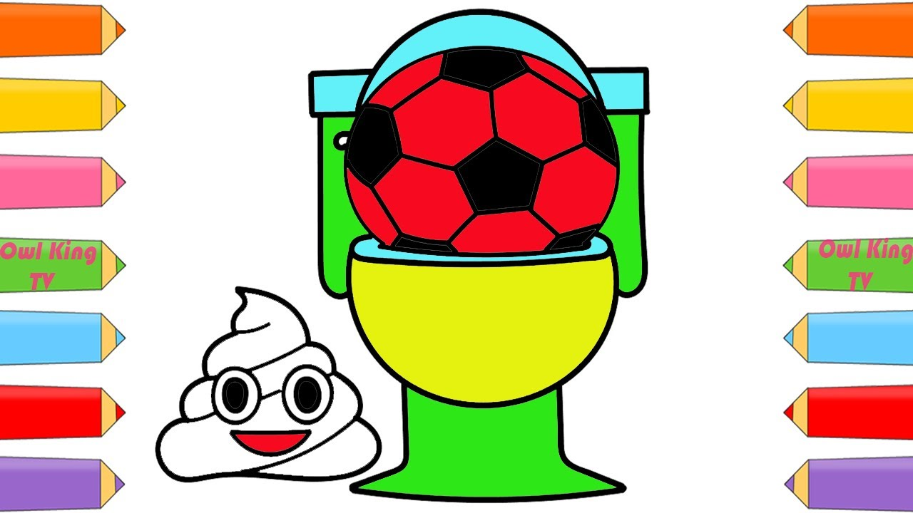 how to draw toilet soccer balls coloring pages art