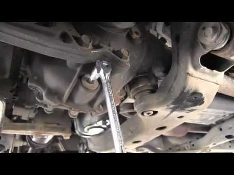 Transmission Fluid Leak >> Toyota 4Runner front differential oil change - YouTube