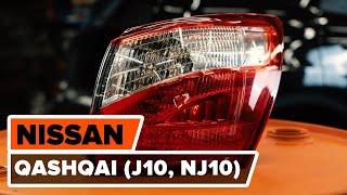Kako zamenjati zadnja luč na NISSAN QASHQAI (J10, NJ10) [VODIČ AUTODOC]
