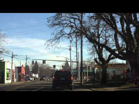 Online video tour going east then south in Salem, Oregon, USA