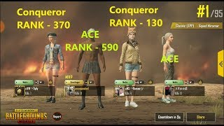 Conqueror's Kills in Pubg Mobile | 1 vs 4 Moments