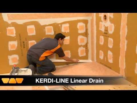 Kerdi Line Drain Installation Schluter Systems Mp4 Youtube