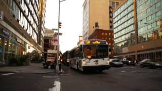 New Jersey Transit : Buses Entering The Port Authority Bus Terminal During The Rush Hour