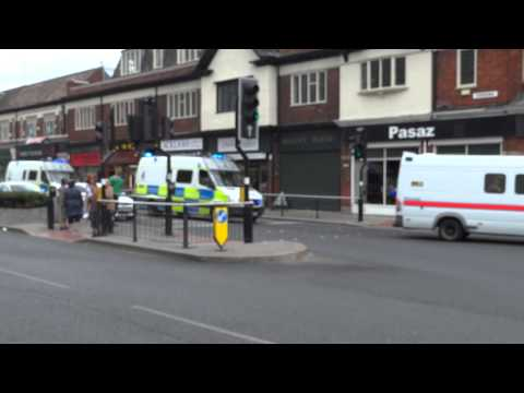 Police Vans Move Through Hull During The EDL Protest