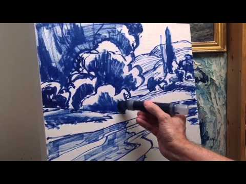 Landscape Painting Tutorial , part 1 of 4