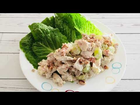 Oven Roasted Chicken Salad with Apples, Green Grapes & Toasted Walnuts