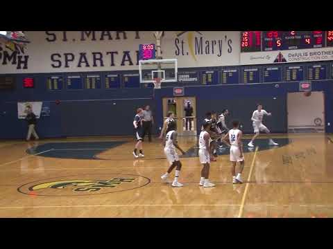 St  Mary's High School Boy's Basketball vs  Archbishop Williams High School January 27, 2020
