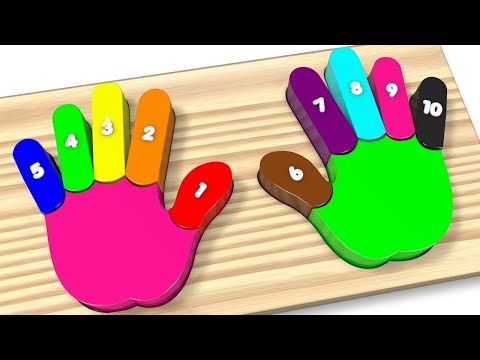Thumbnail: Learn Colors and Numbers Wooden Colorful Rainbow Hands and Fingers Kids Toys - Best Learning Video