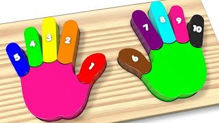 Wooden Colorful Rainbow Hands and Fingers Kids Toys - Best Learning Video