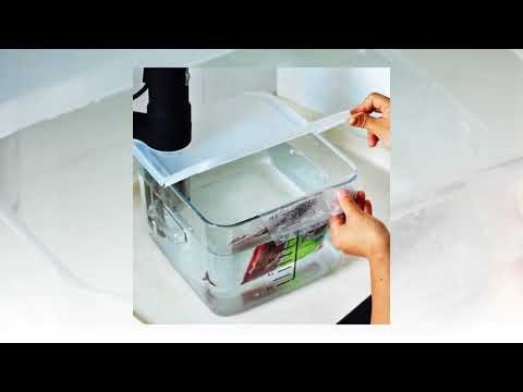 EVERIE Collapsible Hinged Sous Vide Container Lid for Anova Culinary Precision Cookers