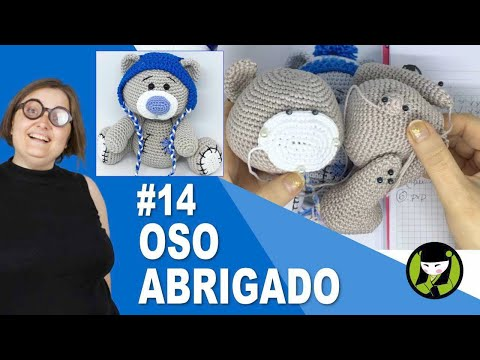 OSO NAVIDEÑO AMIGURUMI 14 oso tejido a crochet
