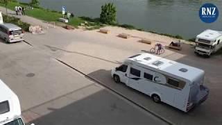 Camper-Ärger am Neckarufer