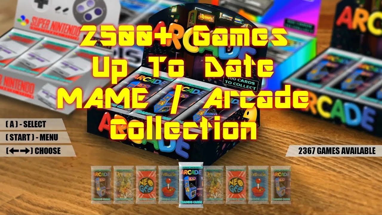 Massive Arcade Mame Collection Raspberry Pi 3 Up To Date