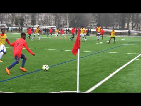Match Sélection U14 Ligue Paris IDF, INF Clairefontaine en jaune vs PSG Centre de Formation 19 02 18