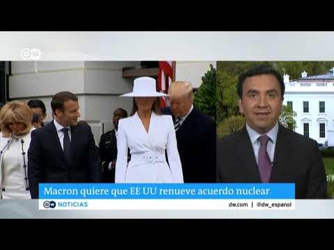 Macron de visita en Washington